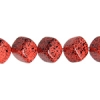 Glass Bead Cubes 8mm with diagon. Hole Coral Matrix